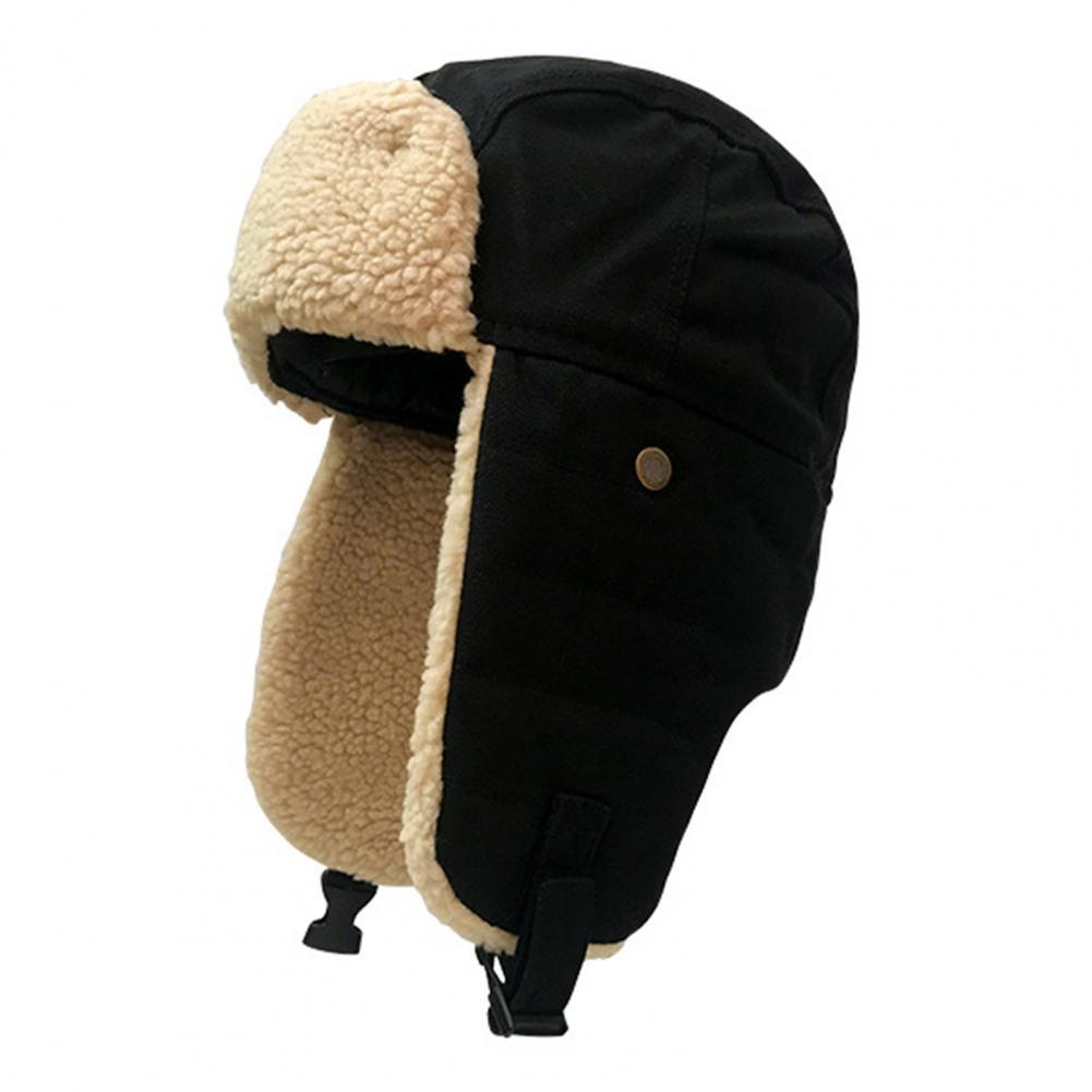 New Winter Unisex Cycling Skiing Snow Windproof Bomber Hats Plus Velvet Thic Warm Ear Protection S