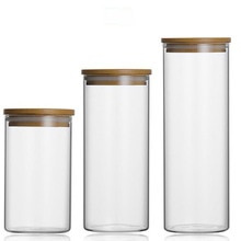 Стеклянная банка для хранения еды без свинца, кухонные контейнеры для хранения, закрытые бутылки с крышкой, большая емкость, стеклянные бан...
