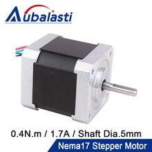 Aubalasti Nema 17 Stepper Motor 42Ncm 1,7 EINE 2 Phase 40mm Stepper Motor 4-blei für 3D drucker CNC Gravur Fräsen Maschine