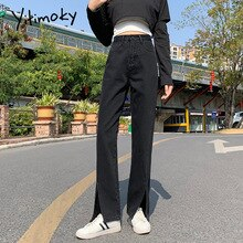 Yitimoky Ripped Jeans for Women Bell Bottom High Waist Denim Flare Pants Fashion Clothes Vintage Ful
