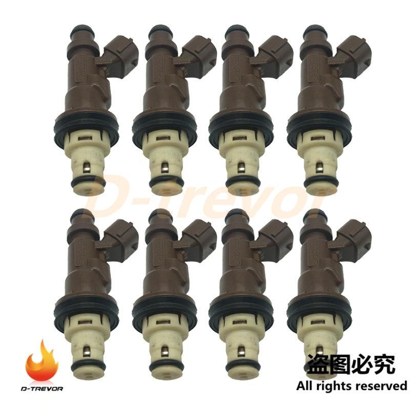 8pcs OEM 23250-62040 Fuel Injector Nozzle For Toyota Tacoma Tundra 4Runner 3.4L V6 M717 4G1597 1580561 FJ585 23209-62040