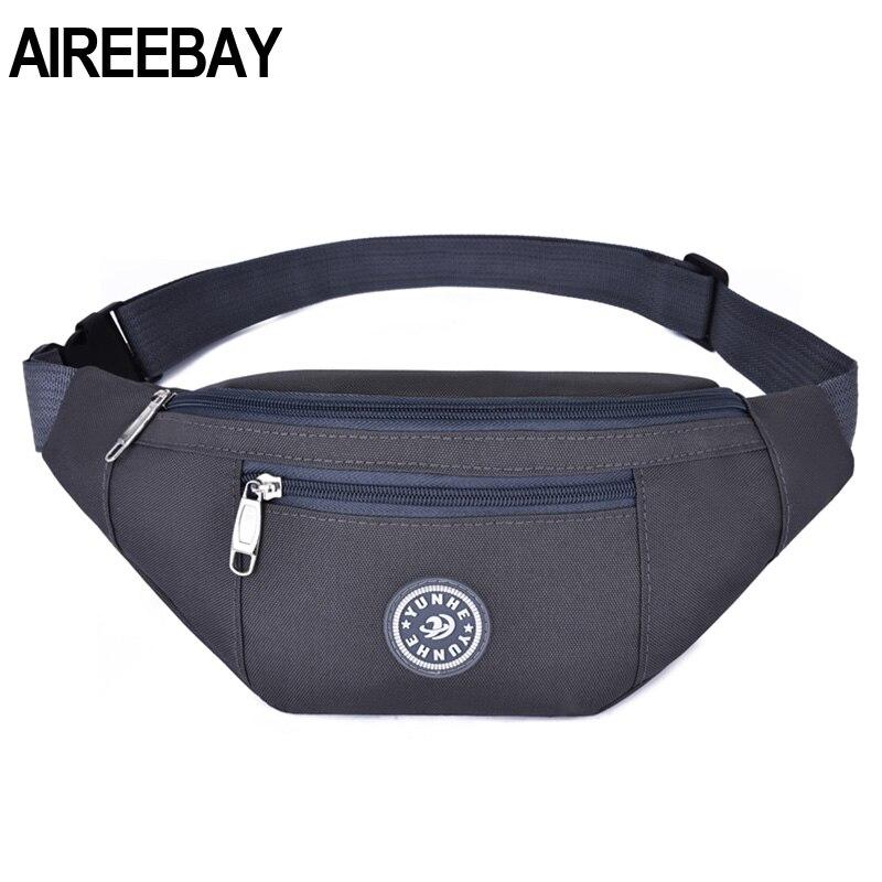 Bolsa de viaje AIREEBAY para hombres, bolsa de cinturón de dinero para mujeres, bolsa de riñonera informal de gran capacidad con 3 bolsillos las niñas cintura