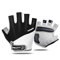 men fitness gloves absorb sweat fingerless cycling gloves outdoor sport camping hiking motorcycle bike gloves riding equipment