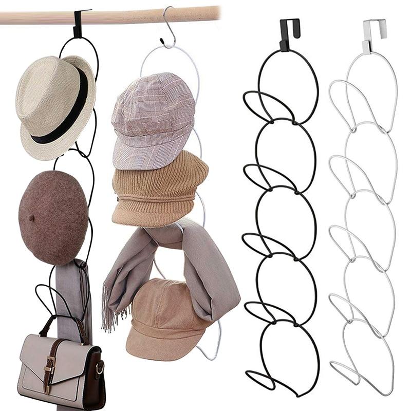 Вешалка для бейсболок, шляп, держатель для демонстрации дверей, шкафов, одежды, шарфов, полотенец, круглая полка для хранения, Домашний Орган...