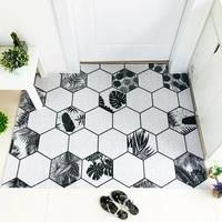 nordic home style cuttable doormat entrance outdoornon slip bedroom living room floor mat hallway decorative rugwashable