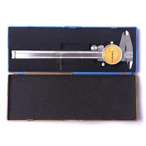 CHEERBRIGHT Stainless Steel Dial Calipers 0-150mm Accuracy 0.02mm Metal Vernier Caliper Metric Micrometer Gauge Measuring Tools