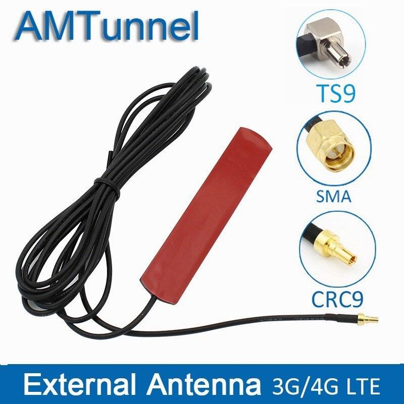 3G 4G антенна 4G LTE патч антенна 4G маршрутизатор Антенна С CRC9 коннектором с 3 м кабелем TS9 SMA папа для Huawei роутер USB модем