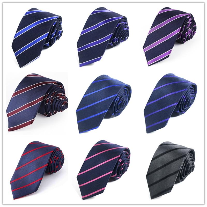 Corbatas 100% de seda Natural para corbatas de hombre, corbata de cuello de novio de 6,5 CM, corbatas estrechas de rayas de seda auténtica para hombre, regalo para hombre, fiesta de boda