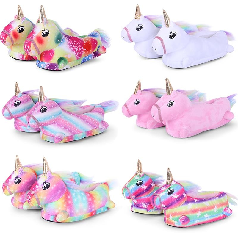 Zapatillas De Casa Kigurumi Licorne Para Mujer Pantuflas De Unicornio De Animales Zapatillas Para Juegos De Disfraces 2020 дешевый магазин Sexresort
