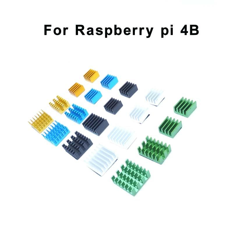 4 предмета в комплекте, для Raspberry Pi 4B Алюминий Радиатор для Raspberry Pi 4