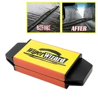 car windshield wiper guide blade repairer wiper cleaning brush fan windshield cleaner with 5 guide wipes car styling