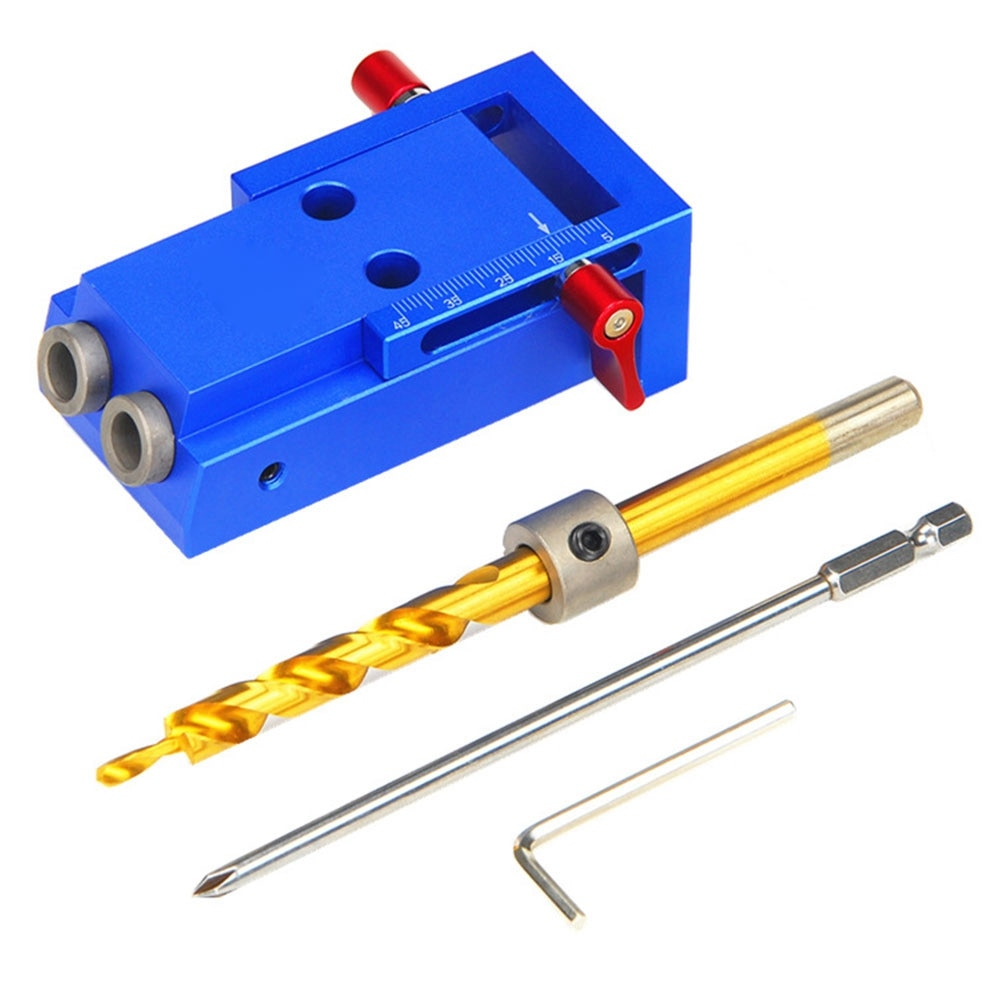 DIY Woodworking Hole Jig Kit Drill Manual Locator Woodworking Inclined Hole Device Angle Drilling Holes Guide Carpentry Tools