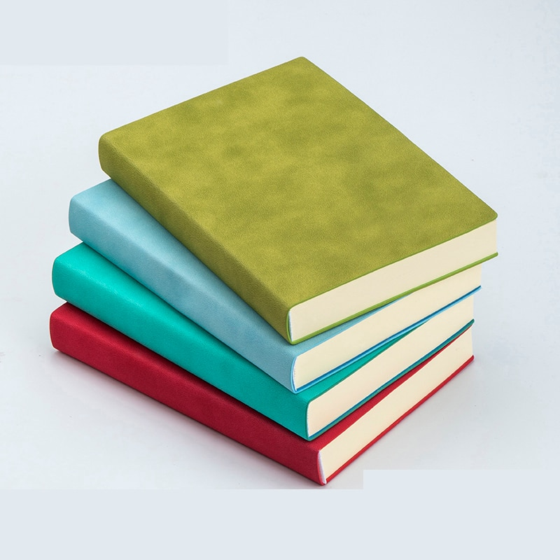 Leather Diary Notebook Thick Paper White Blank Pages Sketchbook A5 Office Notepad Vintage Note Book Agenda Soft Cover Gifts Work
