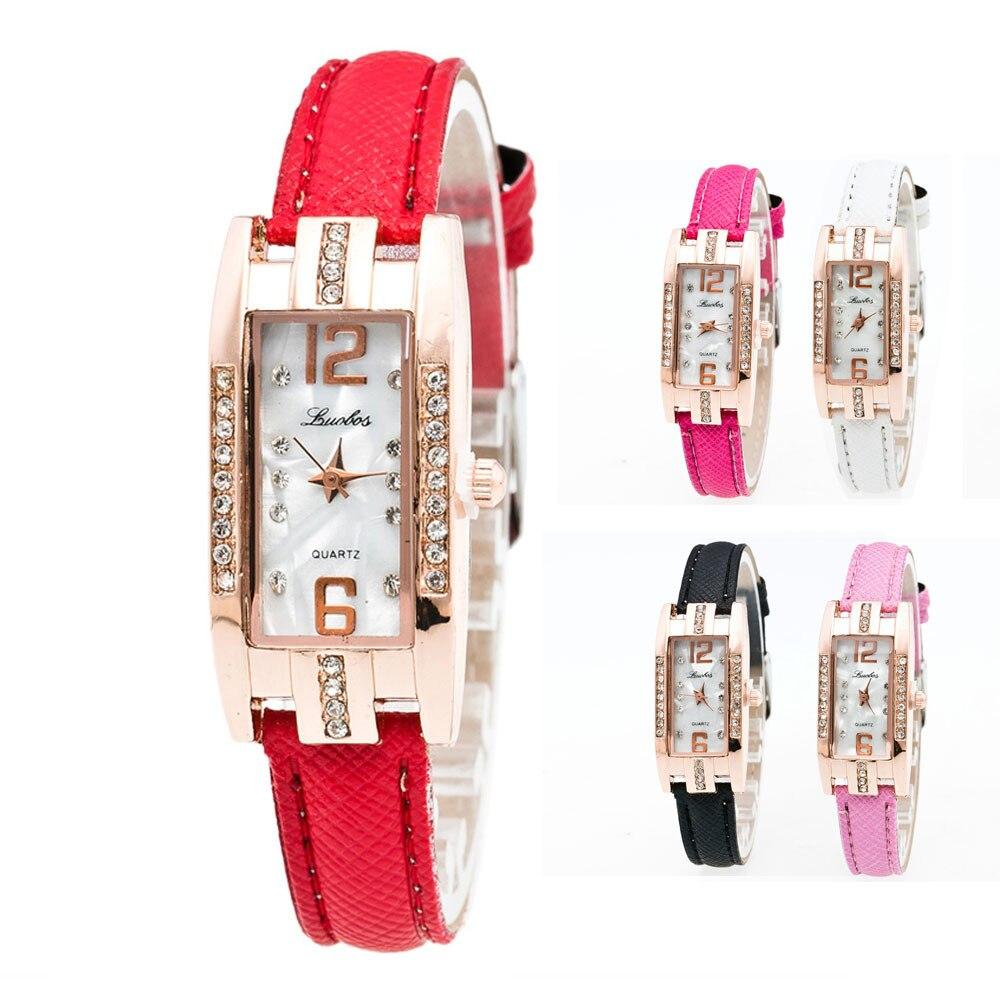 Quartz Watch Women Ladies Luxury Fashion Rectangular Vintage Quartz наручные часы Pointer Life Waterproof Alloy Wrist Watch