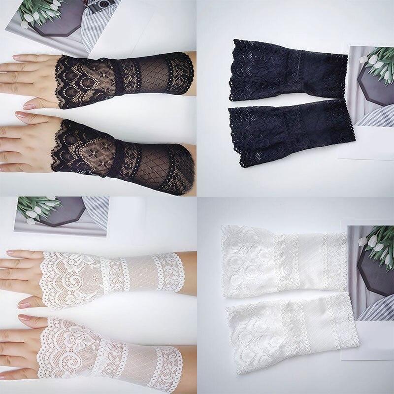 Кружевные накладные рукава, полые цветы, накладные рукава, пальто, декоративные рукава, универсальные милые наручные манжеты, нейтральные н...