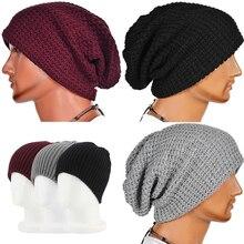 Unisex Beanie Autumn Winter Wool Blends Soft Warm Knitted Cap Men Women SkullCap Hats Ski Caps