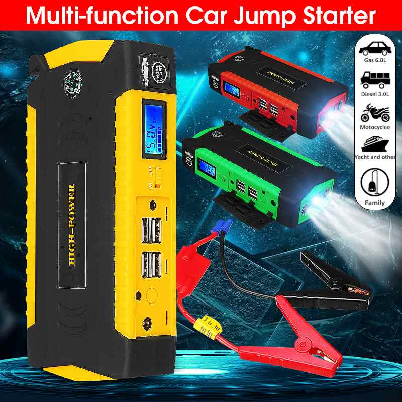 82800mAh 12V 600A multifunción Jump Starter portátil 4 batería USB automóvil Booster cargador Booster banco de energía dispositivo de inicio UE