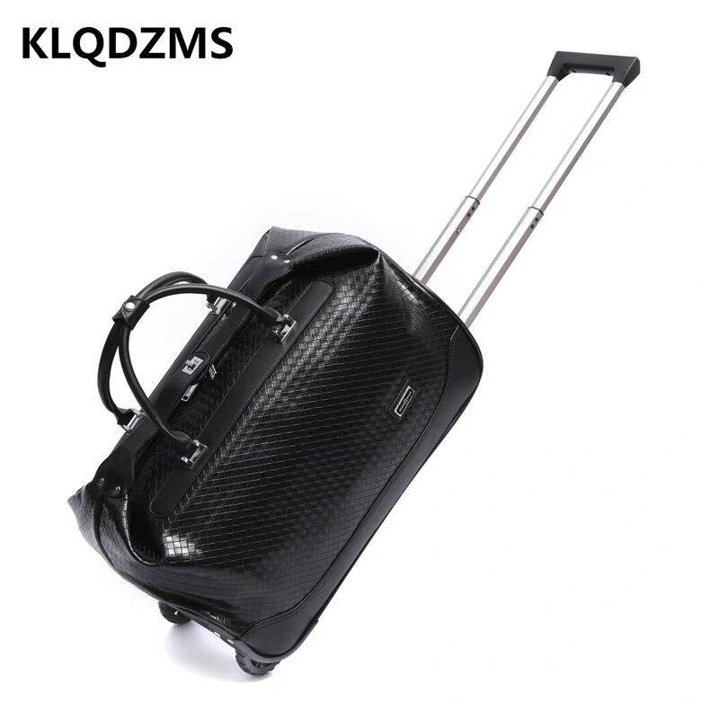 KLQDZMS мужской модный ручной чемодан, Портативная сумка, ретро колесные тележки, чемодан на колесах, Многофункциональный чемодан