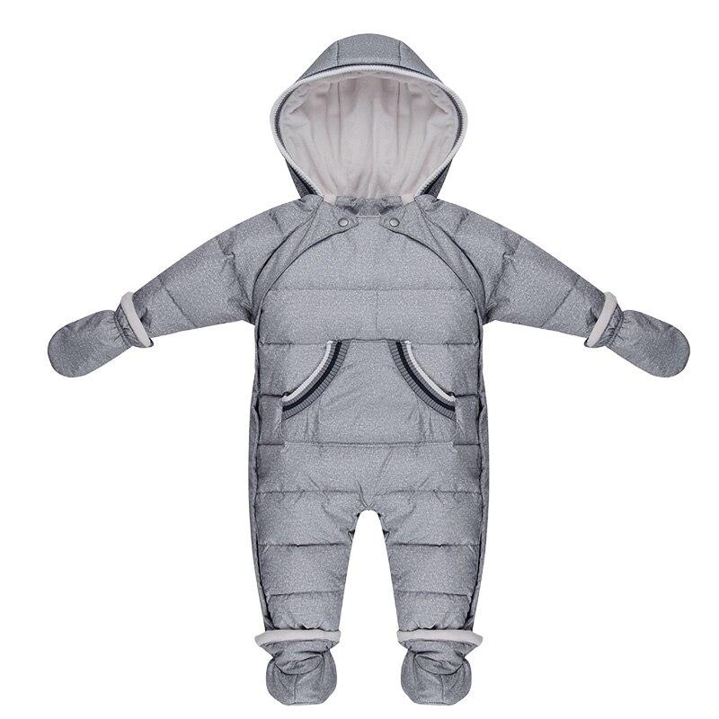 Winter Baby Junge Mädchen 0-3 Jahre Neugeborenen Warme Ente Unten Strampler Schneeanzug Kinder Verdicken Mit Kapuze Overall Jacke Mantel kinder Kleidung