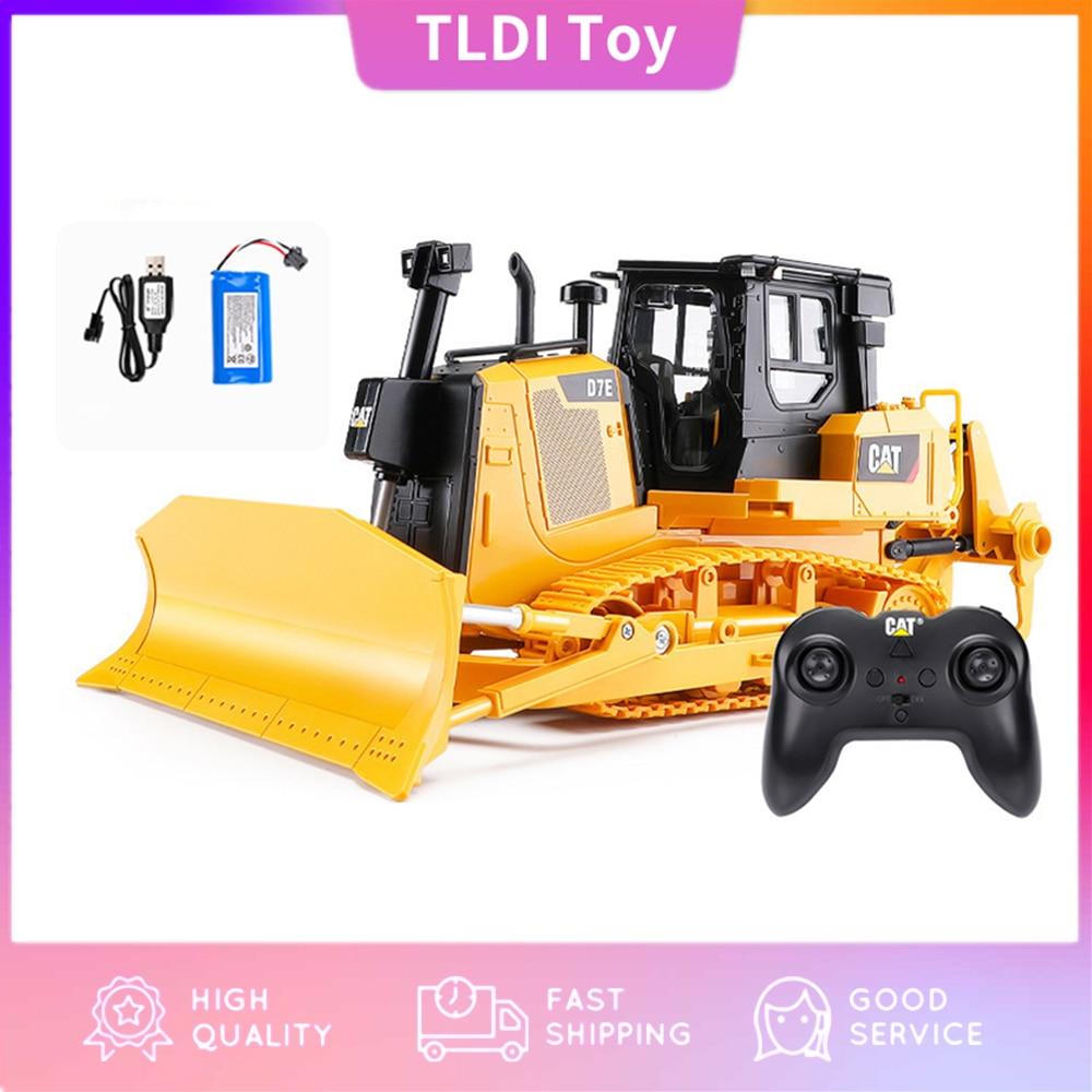 HUINA 25002 2.4G 1:24 RC Truck Heavy Bulldozer Caterpillar  Tractor Model Engineering Car Excavator Radio Controlled Toys Boys