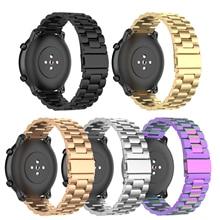 Pulsera inteligente correa de acero pulsera Smartband para Ticwatch pro E2 S2 Huawei reloj GT activo Amazfit Pace Stratos GTR 47MM 42MM