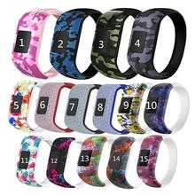 Colorful Wristband Silicone No Buckle Watch Band Strap Watchband Sports Replacement for Garmin Vivof
