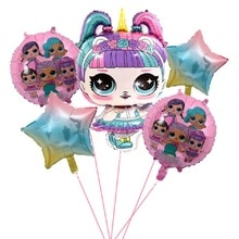 L. O. L. überraschung! Geburtstag party dekorationen kinder LOL puppen DIY thema Dekoration Liefert Tasse Platte Löffel ballon kinder geschenk