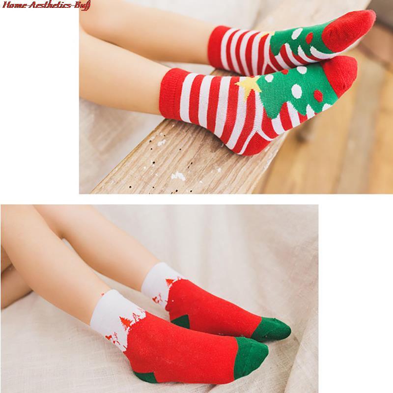 5 пар, новогодние хлопковые носки для мальчиков и девочек