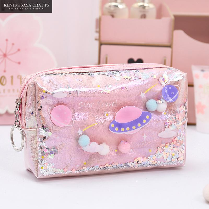 candy color large capacity pencil case eva pen pouch bag for girls cute school pencil box sweet cake pencilcase stationery store Star Pencil Case Glitter Large Capacity Pencilcase School Pen Makeup Case Supplies Pencil Bag School Box Pencil Pouch Stationery