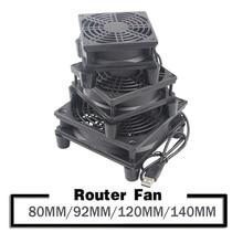 YOUNUON 5V USB Router Fan TV Box Cooler 80mm 92mm 120mm 140mm PC DIY Cooler W/Screws Protective net Silent Desktop Fan