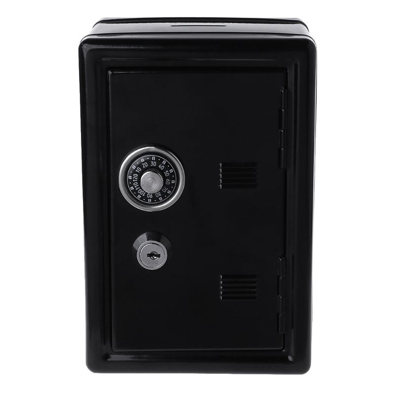 New Safe Security Metal Money Bank Deposit Cash Savings Saving Box 2 Keys