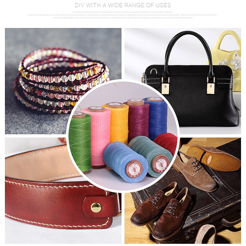 260 meter Hand Sewn Wax Thread Hand Woven Sewing Flat Wax Thread DIY Leather Special Hand Sewn Purse Polyester Thread 0.8m150d