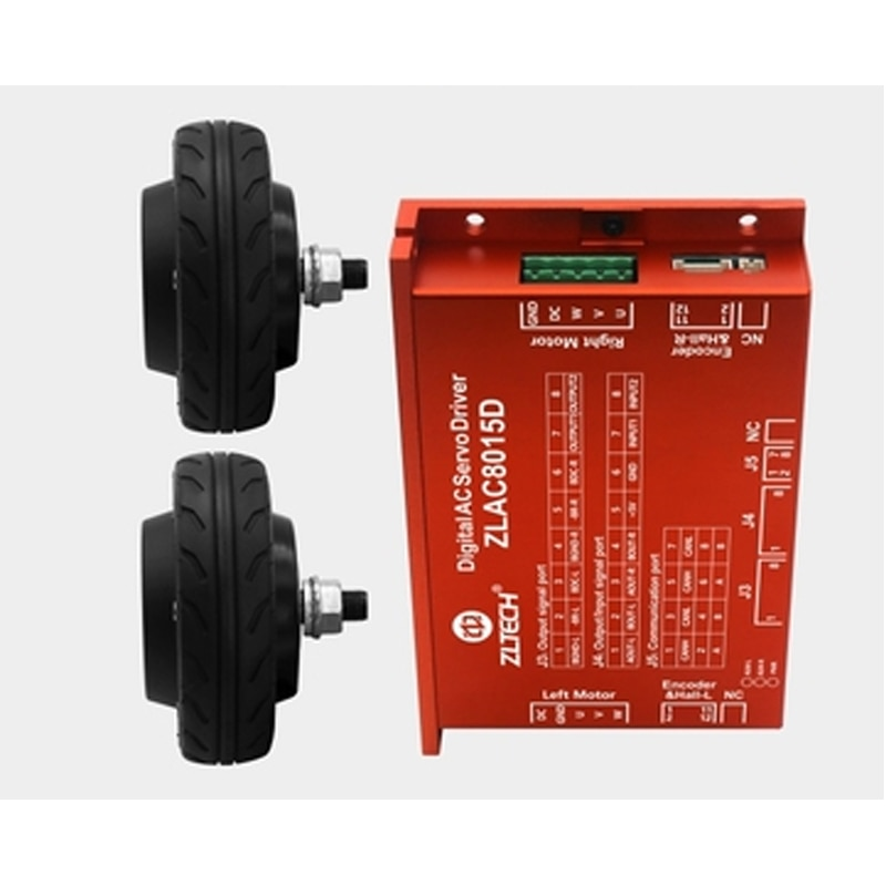 5 inch Built-in Encoder Robot Hub Servo Motor ZLLG50ASM200 Servo Driver Sleeve ZLLG50ASM200+ZLAC706-RC