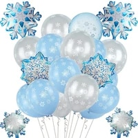 new christmas venue layout balloon package party decoration snowflake rubber balloons
