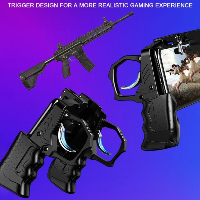 Mobile Game Controller 4-Finger Compatible For PUBG Cellphones Trigger Joystick Gamepad enlarge