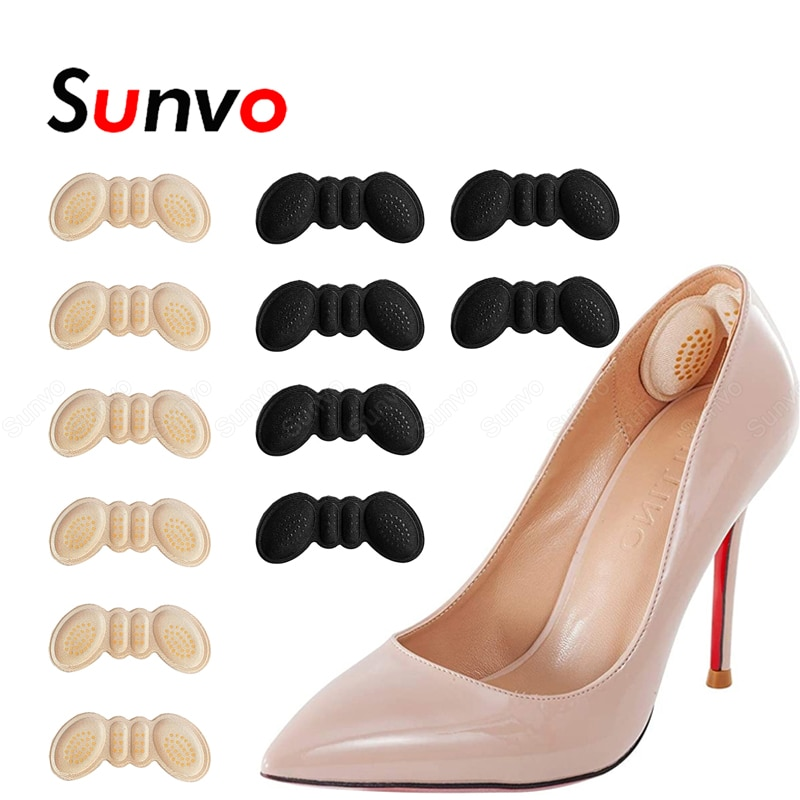6 Pairs Heel Insoles Pads for Women High Heels Liner Grips Protector Sticker Foot Pain Relief Care Shoes Insert Heel Cushion Pad