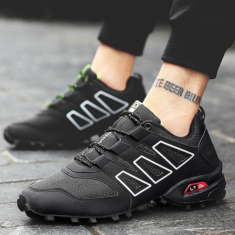 Zapatos de senderismo para exteriores para hombre, zapatillas de deporte de escalada transpirables, zapatos de Trekking tácticos de caza para hombre, zapatillas antideslizantes de malla de verano