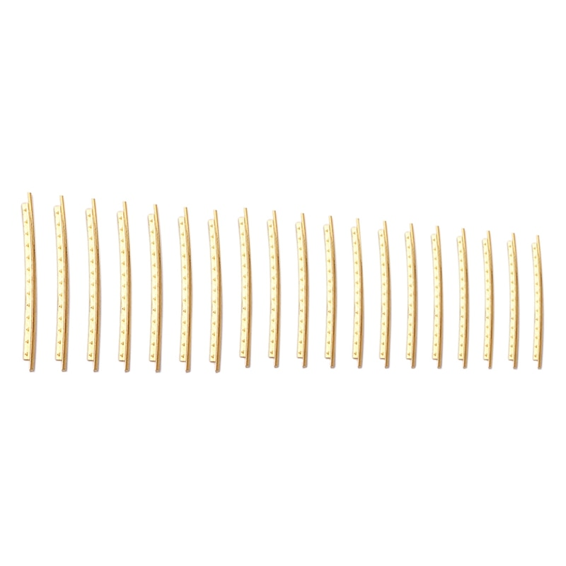 19PCS Guitar Frets Wire 2.2mm Brass Guitar Frets Wire Fingerboard for Classical Acoustic Guitar Fret Wires Accessories 22 frets maple guitar neck rosewood fingerboard neck for fender tele replacement guitar accessories parts right handed players