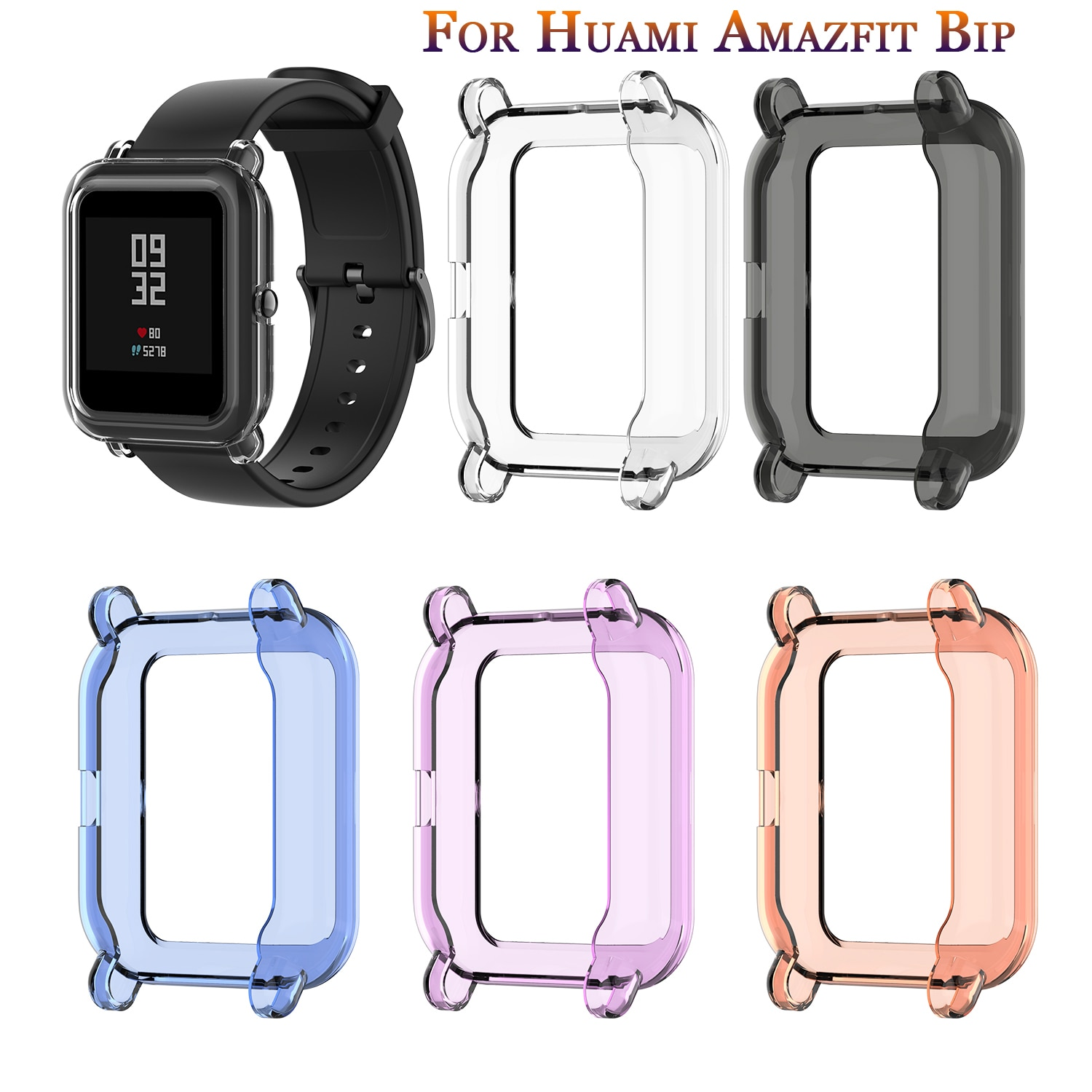 new-screen-protector-slim-colorful-frame-tpu-case-cover-protect-shell-for-xiaomi-huami-amazfit-bip-younth-watch-screen-protector