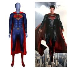 Anime Superman: Man of Steel 2 Clark Kent Cosplay Costumes super-héros Superman enfants adultes Zentai combinaisons cape body