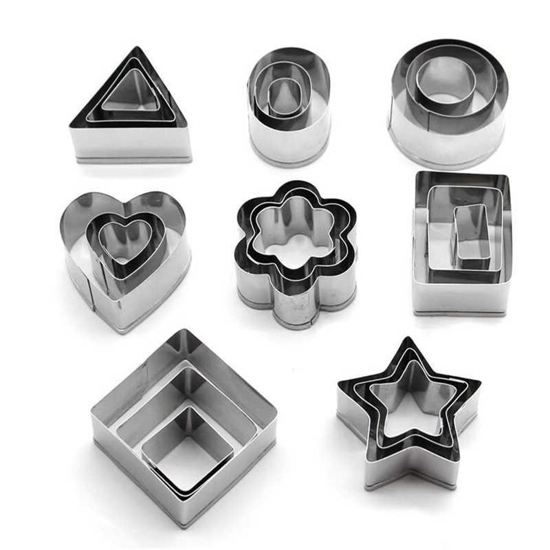 24 Pcs Polymer Clay Cutter Set Flower Heart Square Circle Hexagon Star Geometric Cutting Mold Designer Diy Clay Jewelry Tools Pottery Ceramics Tools Aliexpress