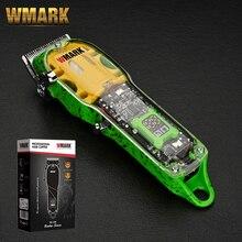 2021 WMARK NG-408 colore verde trasparente stile professionale ricaricabile Clipper Cord & cordless capelli Trimmer con dissolvenza lama