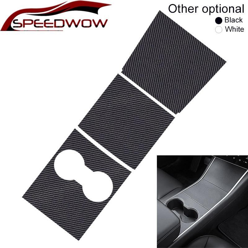 SPEEDWOW 3 unids/set de Control Central de coche Panel de protección parche para Tesla modelo 3 2017-2019 accesorios de coche