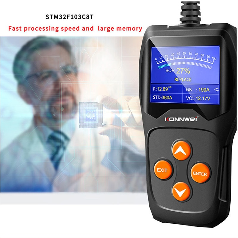 Car Battery Tester Auto Battery Tools 12V 100 to 2000CCA Quick Cranking Charging Diagnostic Circut Digital Alternator Tester duoyi dy2015 12v car battery system tester capacity maximum electronic load battery cranking charge test digital diagnostic tool