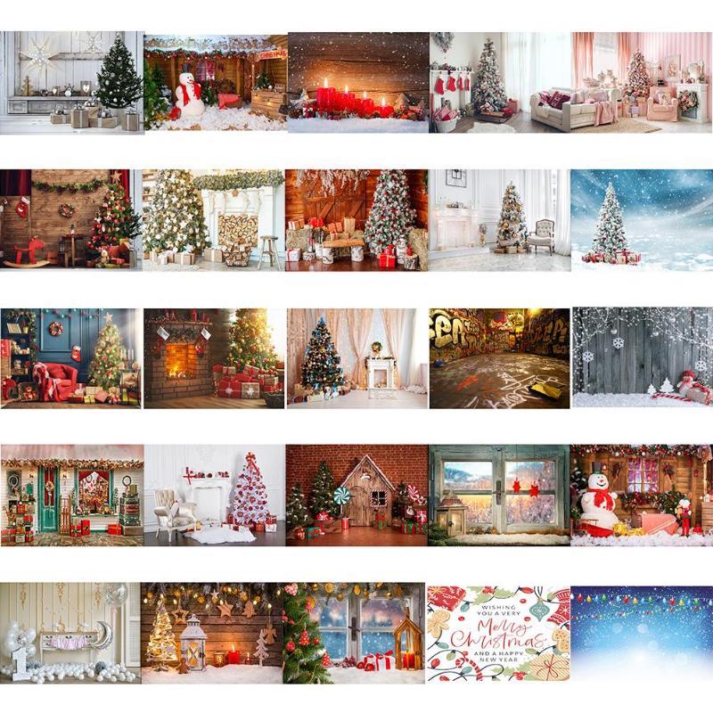 Christmas Photography Background Cloth Xmas Snows Santa Claus Home Decor Photo Studio Fabric Props Wall Hanging Decoration Craft