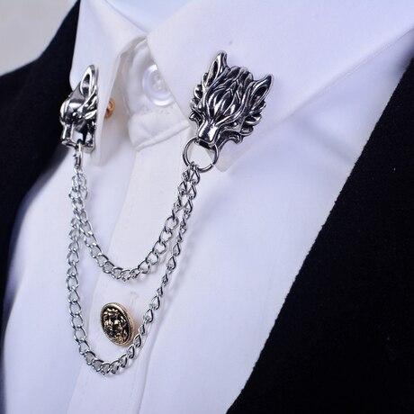 Mary Kay Broche dominante animales dragón Broche Cuello de camisa borla cadena...