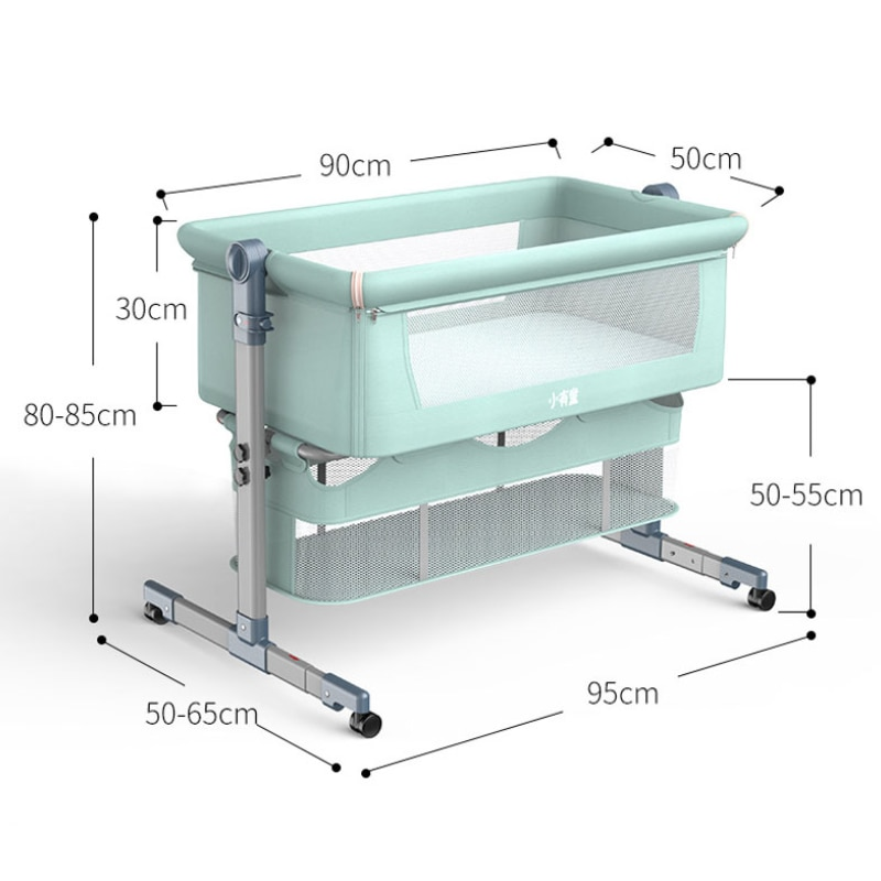 Baby Crib Portable Bassinet Newborn Baby Rocking Bed Foldable Adjustable Baby Nest Bed Cot Baby Nursery Furniture Toddler Bed