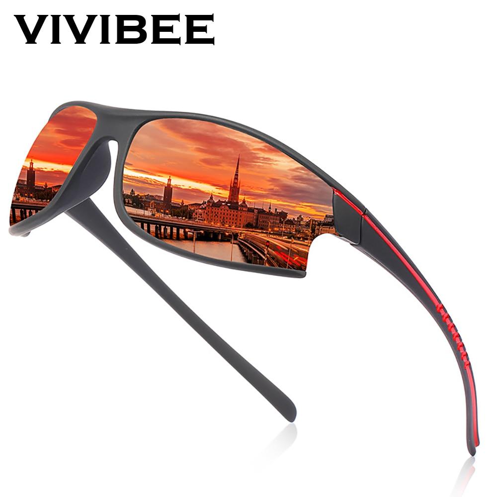 AliExpress - VIVIBEE Mirror Red 100% Polarized Sports Sunglasses Cycling Men Goggles UV400 Climbing Women Outdoor Elasticity Sun Glasses