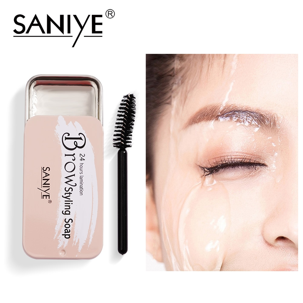 AliExpress - SANIYE Eyebrow Soap Wax With Trimmer Fluffy Feathery Eyebrows Pomade Gel For Eyebrow Lamination Makeup Soap Brow Sculpt E324