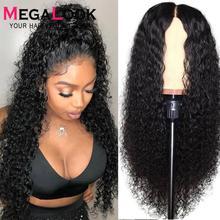 Кудрявые человеческие волосы парик фронта шнурка человеческих волос парики для черных женщин 30 дюймов закрытие шнурка парик Remy 180% перуанск...